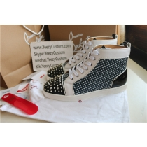 Super High End Christian Louboutin Flat Sneaker High Top(With Receipt) - 0174