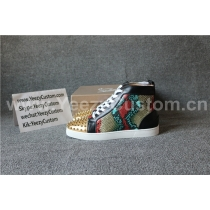 Super High End Christian Louboutin Flat Sneaker High Top(With Receipt) - 0019
