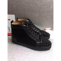 Super High End Christian Louboutin Flat Sneaker High Top(With Receipt) - 0039
