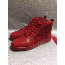 Super High End Christian Louboutin Flat Sneaker High Top(With Receipt) - 0045
