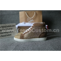 Super High End Christian Louboutin Flat Sneaker High Top(With Receipt) - 0050