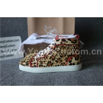 Super High End Christian Louboutin Flat Sneaker High Top(With Receipt) - 0055