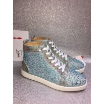 Super High End Christian Louboutin Flat Sneaker High Top(With Receipt) - 0078