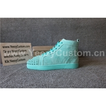 Super High End Christian Louboutin Flat Sneaker High Top(With Receipt) - 0023