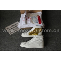 Super High End Christian Louboutin Flat Sneaker High Top(With Receipt) - 0088