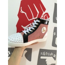 Super High End Christian Louboutin Flat Sneaker High Top(With Receipt) - 0104