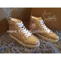 Super High End Christian Louboutin Flat Sneaker High Top(With Receipt) - 0005
