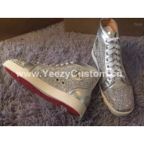 Super High End Christian Louboutin Flat Sneaker High Top(With Receipt) - 0009