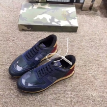 Valentino Studded Suede & Nylon Men and Women Sneakers-021