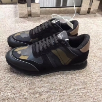 Valentino Studded Suede & Nylon Men and Women Sneakers-023