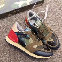 Valentino Studded Suede & Nylon Men and Women Sneakers-030