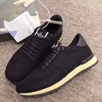 Valentino Studded Suede & Nylon Men and Women Sneakers-038