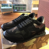 Valentino Studded Suede & Nylon Men and Women Sneakers-041