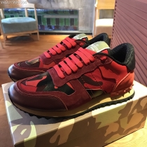 Valentino Studded Suede & Nylon Men and Women Sneakers-042
