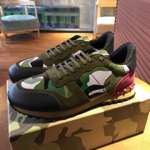 Valentino Studded Suede & Nylon Men and Women Sneakers-043