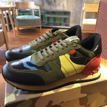 Valentino Studded Suede & Nylon Men and Women Sneakers-044