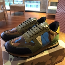 Valentino Studded Suede & Nylon Men and Women Sneakers-046