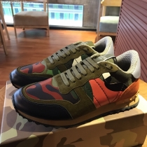 Valentino Studded Suede & Nylon Men and Women Sneakers-047