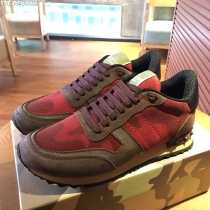 Valentino Studded Suede & Nylon Men and Women Sneakers-048