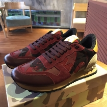Valentino Studded Suede & Nylon Men and Women Sneakers-049