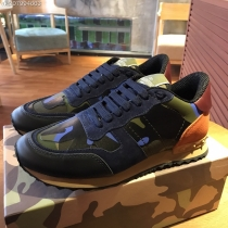 Valentino Studded Suede & Nylon Men and Women Sneakers-040