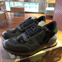 Valentino Studded Suede & Nylon Men and Women Sneakers-051
