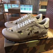 Valentino Studded Suede & Nylon Men and Women Sneakers-052