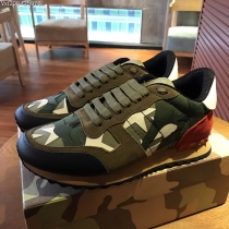 Valentino Studded Suede & Nylon Men and Women Sneakers-053