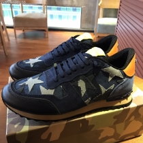 Valentino Studded Suede & Nylon Men and Women Sneakers-054