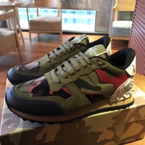Valentino Studded Suede & Nylon Men and Women Sneakers-055