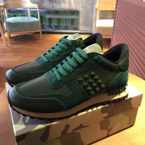 Valentino Studded Suede & Nylon Men and Women Sneakers-056