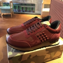 Valentino Studded Suede & Nylon Men and Women Sneakers-057