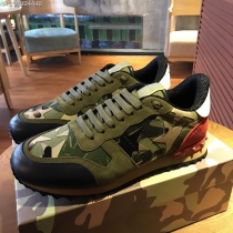 Valentino Studded Suede & Nylon Men and Women Sneakers-058