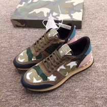 Valentino Studded Suede & Nylon Men and Women Sneakers-012