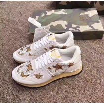 Valentino Studded Suede & Nylon Men and Women Sneakers-013