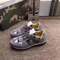Valentino Studded Suede & Nylon Men and Women Sneakers-016