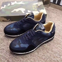 Valentino Studded Suede & Nylon Men and Women Sneakers-017