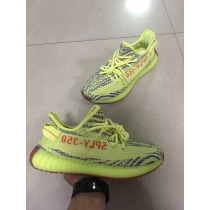 Authentic Adidas Yeezy 350 Boost V2 Semi Frozen Yellow F15 GS