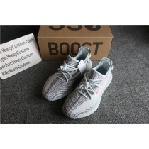 Authentic Adidas Yeezy 350 Boost V2 Tint Blue/Grey GS