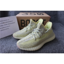 Authentic Adidas Yeezy 350 V2 Yellow Static Non Reflective Women Shoes