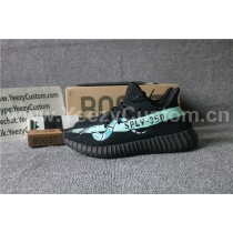 Authentic Adidas Yeezy Boost 350 V2 Black Green Snake Blue