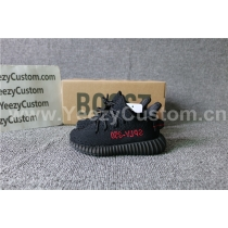 Authentic Adidas Yeezy 350 Boost Black Red Infrant Shoes