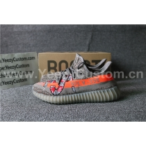 Authentic Adidas Yeezy 350 Boost Orange Grey Dragon