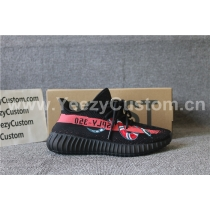 Authentic Adidas Yeezy Boost 350 V2 Black Red Snake Blue