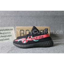 Authentic Adidas Yeezy Boost 350 V2 Black Red Snakeskin Green