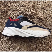 Authentic Adidas Kanye West Yeezy Wave Runner 700 Navy Cream GS