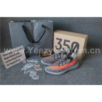 Authentic Adidas Yeezy Boost Sply 350 V2 Grey Orange