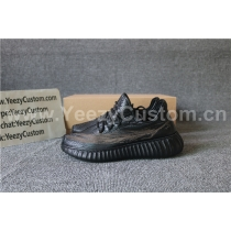 Authentic Adidas Yeezy Boost 350 Custom Made Black