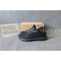 Authentic Adidas Yeezy Boost 350 Pirate Black(Mirrored)