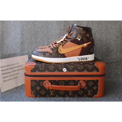 Authentic Air Jordan 1 Off White X LV